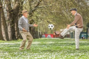 senior home care phoenix two senior men playing soccer