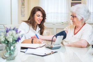 Scottsdale Senior Home Care - checking vital signs