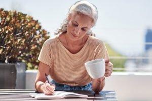 lady journaling